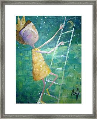 Framed Print featuring the painting Queens Climb Higher by Eleatta Diver