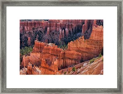 Queens Garden Overlook - Bryce Canyon Np Framed Print by Thomas Schoeller