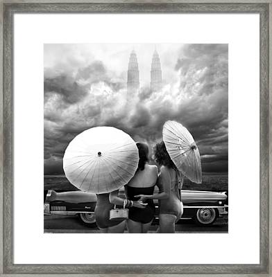Queens Of The Highway Framed Print by Larry Butterworth