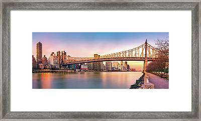 Queensboro Bridge At Sunset Framed Print