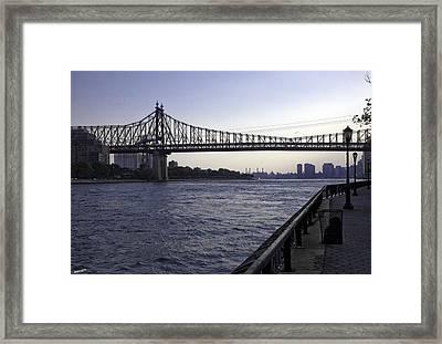 Queensboro Bridge - Manhattan Framed Print