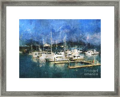 Queensland Marina Framed Print by Claire Bull