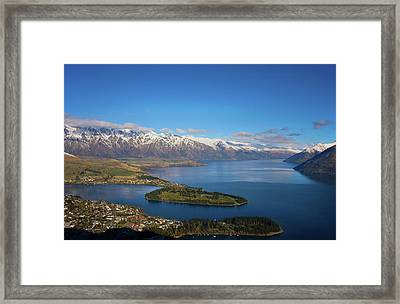 Queenstown Panoramic Framed Print by Odille Esmonde-Morgan