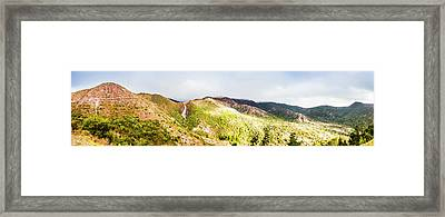 Queenstown Tasmania Wide Mountain Landscape Framed Print