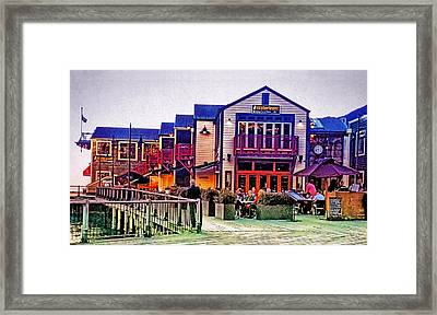 Framed Print featuring the photograph Queenstown Waterfront At Sunset by Kathy Kelly