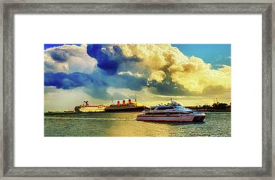 Queensway Bay Ships Framed Print