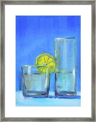 Framed Print featuring the painting Quench by Nancy Merkle
