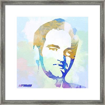 Quentin Tarantino Framed Print by Naxart Studio