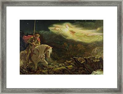 Quest For The Holy Grail Framed Print by Arthur Hughes