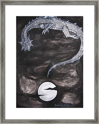 Question Mark Number Two Framed Print by Michael Cook