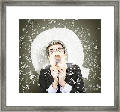 Questions And Answers Framed Print