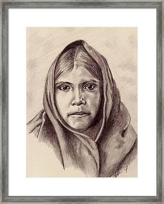 Quhatika Girl Framed Print