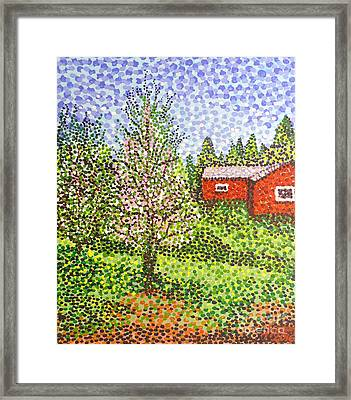Quick Blossoms, New Grass Framed Print by Alan Hogan