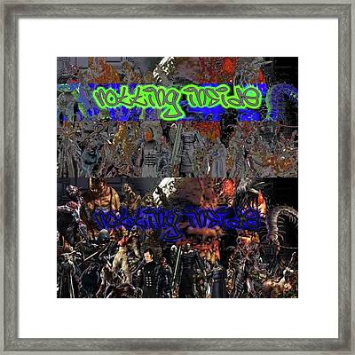 Quick Break From The Concert Vids Here Framed Print
