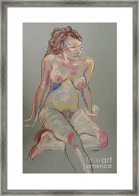 Quick Pastel Nude Framed Print