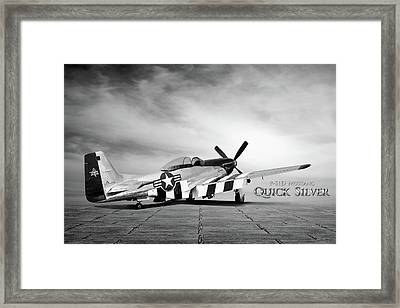 Quick Silver P-51  Framed Print