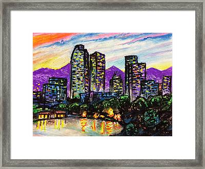 Framed Print featuring the painting Quick Sketch - Denver by Aaron Spong
