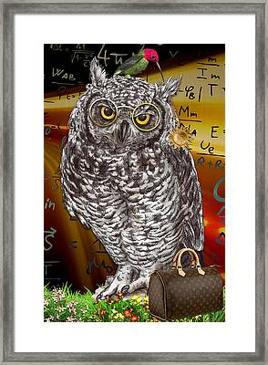 Quick Witted Framed Print