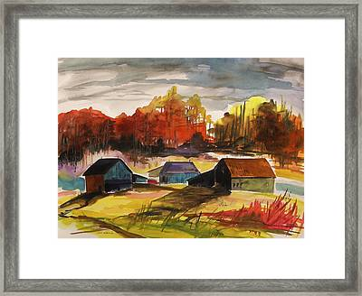 Quiet At Mid Morning Framed Print