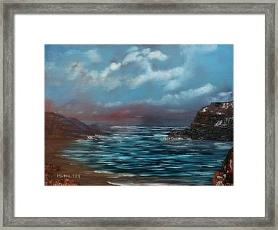 Quiet Bay Framed Print