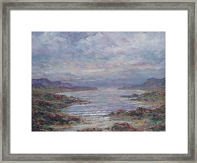 Quiet Bay. Framed Print