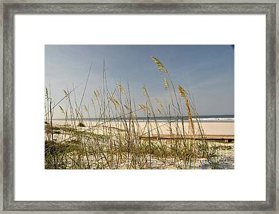 Quiet Beach Framed Print