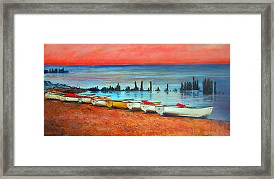 Quiet Beach Framed Print by Michael Durst