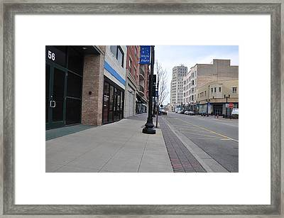 Quiet City Street Framed Print