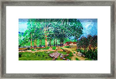 Quiet Countryside Framed Print by Narayan Iyer
