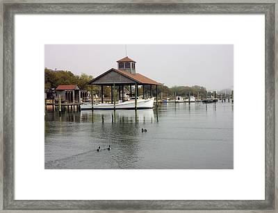 Quiet Cove Framed Print by Cathy Dixson