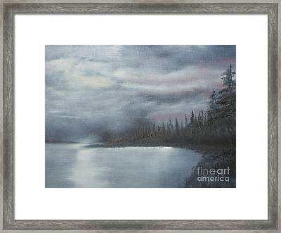 Quiet Cove Framed Print by Shawn Cooper