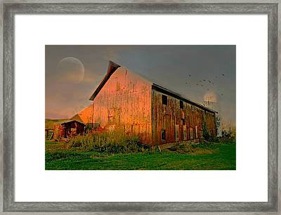 The Red Edge Framed Print