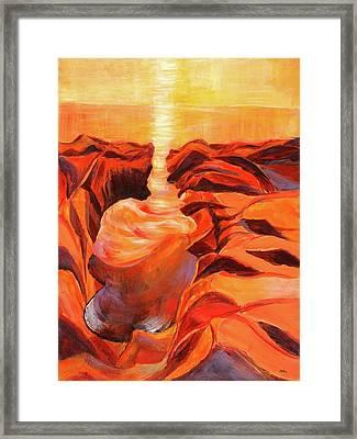 Quiet Eruption Framed Print