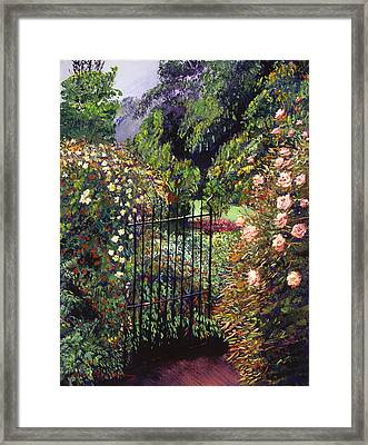 Quiet Garden Entrance Framed Print by David Lloyd Glover
