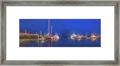 Quiet Harbor II Framed Print