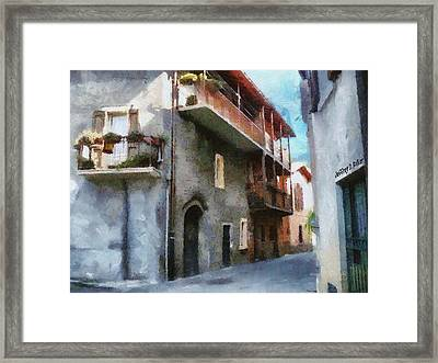 Quiet In Almenno San Salvatore Framed Print by Jeff Kolker