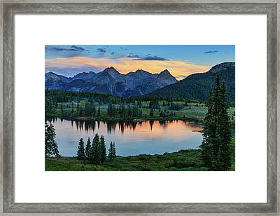 Quiet In The San Juans Framed Print
