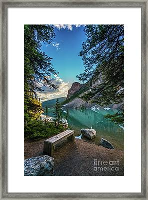 Quiet Lake Moraine Solitude Framed Print by Mike Reid