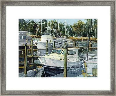 Quiet Marina Framed Print