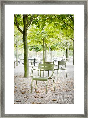 Quiet Moment At Jardin Luxembourg Framed Print