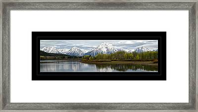 Quiet Morning At Oxbow Bend Framed Print