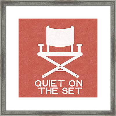 Quiet On Set 2- Art By Linda Woods Framed Print by Linda Woods