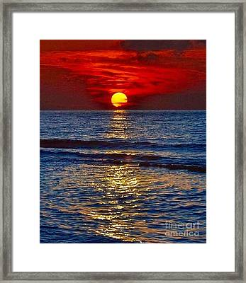 Quiet On The Ocean Framed Print