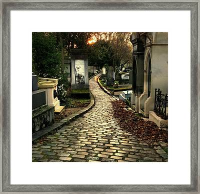 Pere Lachais Cemetery Road Framed Print