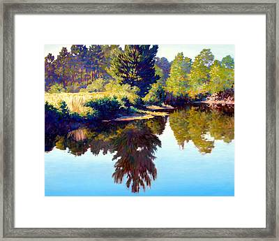 Quiet Pond Framed Print by Kevin Lawrence Leveque