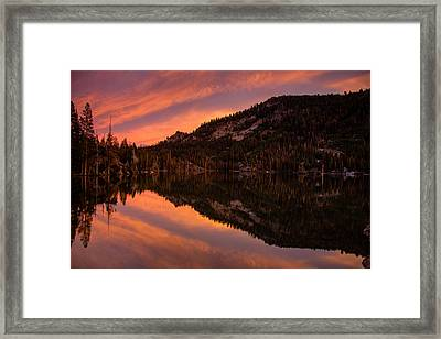 Quiet Reflection - Echo Lake Framed Print by Dan Holmes