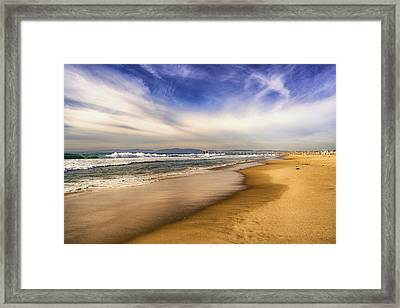 Quiet Reflections Of Hermosa Framed Print