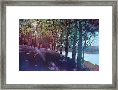 Quiet River Framed Print by Kris Parins