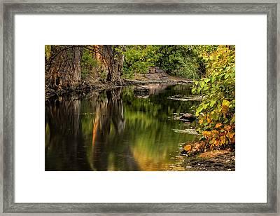 Quiet River Framed Print