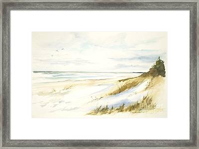 Framed Print featuring the painting Quiet Season by Sandra Strohschein